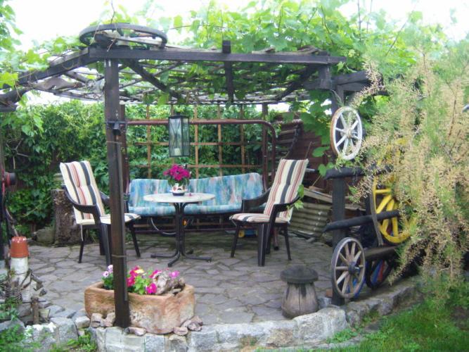 Garten Laube mit tolle stil für ihr haus ideen